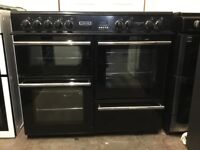 Leisure range electric cooker RCM10CRK 100cm black double oven 3 months warranty free local delivery