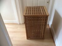 Wooden clothes basket...good condition