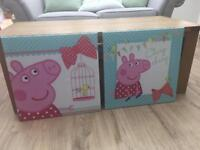 Peppa Pig Canvas x 2