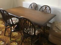 Priory Dark Oak Dining Table & Chairs