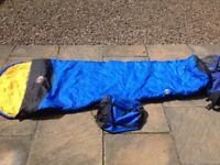 Camping Gear: King Size Sleeping Bag & Stormshield Ultralite 1/2 Man Tent