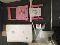 """Pink - girls/personalised wooden chair """"Aliyah"""" BNIB"""