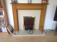 Electric fire hearth and surround.