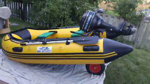 Inflatable Boat SibSport 270 and Mercury 7.5 outboard motor