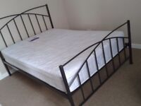 Metal framed double bed for sale