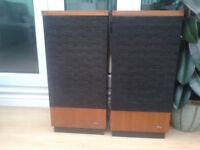 Pair Vintage Goodmans Goodwood Floor Standing HiFi Speakers