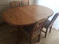 Dining table and 4 chairs £40