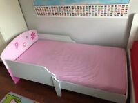 Nice pink junior bed for sale with mattress
