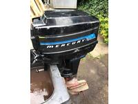 Mercury 7.5HP 2 Stroke Outboard Engine with remote controls