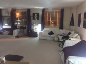 Large spacious living room & room for rent within luxury listed warehouse conversion Central Norwich
