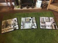 3 High Gloss Canvases