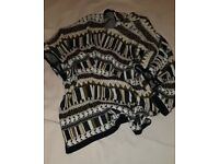 Aztec style poncho jumper style from H&M. Size 16.
