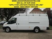 2012 12 FORD TRANSIT JUMBO 2.2TDCI T350 124 BHP. GLASS RACK WINDOW VAN.