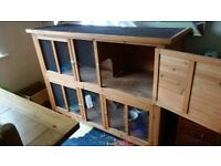 Excellent condition large rabbit hutch, only 8 months old and has never been outside