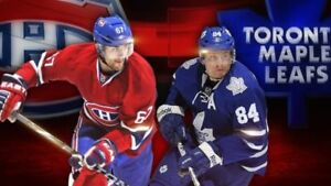 PRE-SEASON CANADIENS VS TORONTO MONDAY SEPT 27TH(GAME IN QUEBEC)