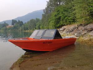 18' aluminum jet boat