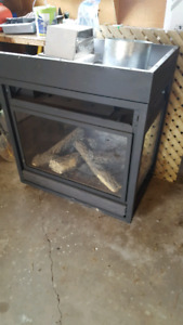 3 sides gas fireplace