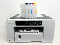 Ricoh Aficio 2100N Printer refillable cartridges Bundle Sublimation Ink Paper