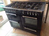 STOVES 1100GT Gas Cooker Range (Black)