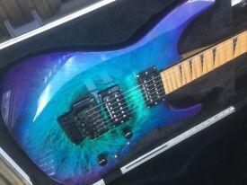 Jackson DK2M Eerie Swirl rare finish guitar - Seymour Duncan pickups