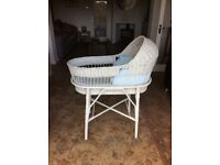 VINTAGE WICKER BABIES CRIB AND STAND