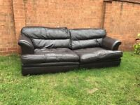 3 Seater Leather sofa Choclate Brown