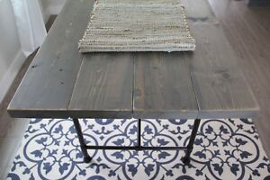NEW Rustic Grey Top Dining Table (delivery available)