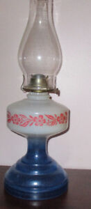 Courier and Ives Coloured Oil Lamps