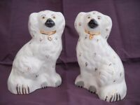 Pair of Beswick mantle dogs.