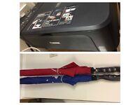 Canon Pixma MG2150 Printer + new colour ink cartridge + 2x new umbrellas