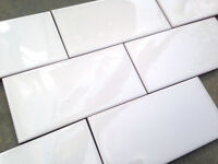 Mini Metro White tiles. 7.5x15cm X66. Bathroom / Kitchen
