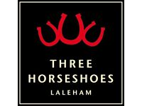 Kitchen Porter (live out) - The Three Horseshoes, Laleham - up to £7.50 per hour + GREAT TIPS