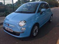 2012 FIAT 500 LOUNGE 1.2,NEW CLUTCH,BRAND NEW MOT,PETROL,MANUAL,£30 ROAD TAX,LOW MILES,HPI CLEAR