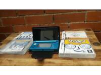 Nintendo 3DS with charger, 4 games