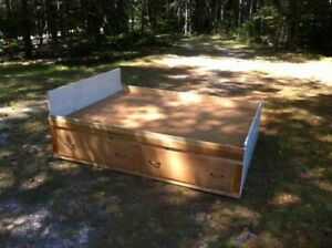 Dounble captains bed with 4 drawers