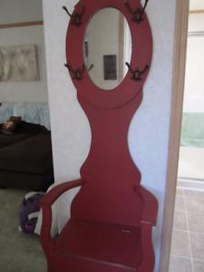 Hall Coat Rack with Mirror