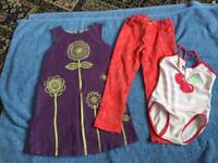 3 ITEMS OF GIRLS CLOTHES, AGE 2-3 YEARS.