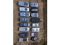 JOB LOT OF OLD PHONES