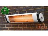 Firefly 2KW Wall Mounted Patio Heater Remote Control £25