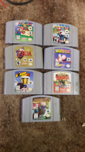 A lot of rare Nintendo 64 games