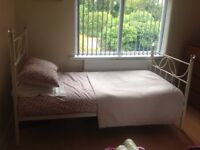 Single Bed Metal Framed with Mattress