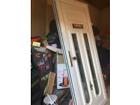 UPVC door for sale in great condition with double glazed glass brass knocker hardly used only £110