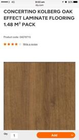 20 packs of kolberg oak effect laminate flooring