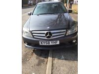 Mercedes Benz C220 2008 58 Plate CDI Grey Automatic Alloys 6 Speed Saloon