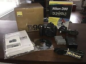 Nikon D90 DSLR (body only) with accessories