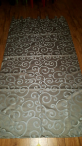 4 tab top curtains panels from Wicker Emporium