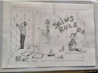 original signed hand drawn cartoon artwork