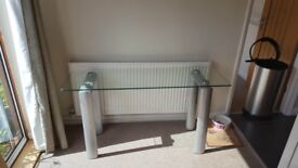 Glass Console table - High end manufacturer. Selling due to house refurb. Excellent condition.