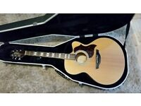 Takamine EG523SC Acoustic/Electric guitar and hard case.
