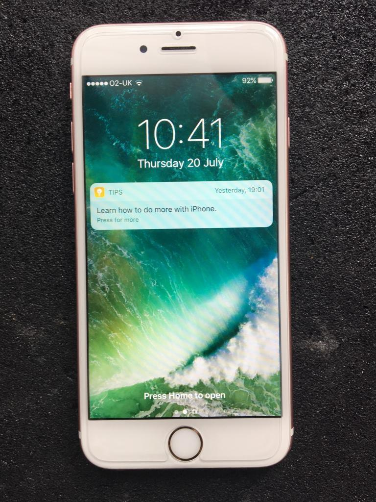 iPhone 6s 64GB, O2, Giffgaff, Tesco. Rose gold colour, excellent conditionin Wolverhampton, West MidlandsGumtree - iPhone 6s 64GB, networks O2, Giffgaff, Tesco.Rose gold colour, excellent condition, full working. With charger.Wolverhampton £240 no offers